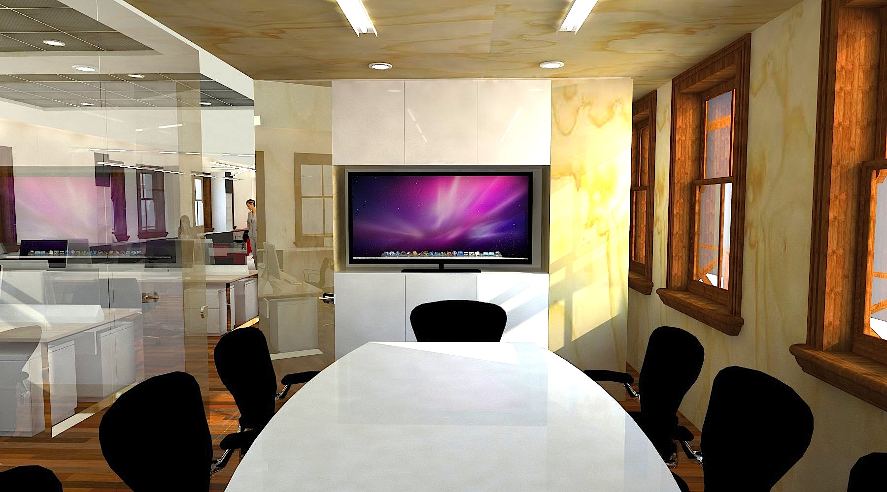 Arquitectura organizacional oficinas ferrocarril for Oficinas de diseno y arquitectura